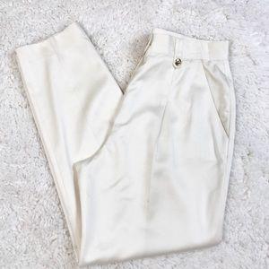 Escada Cream Lined Pants Sz 40